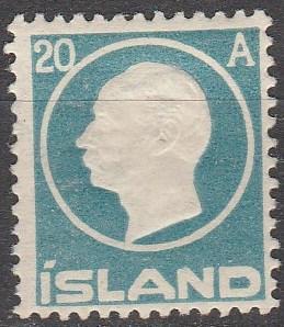 Iceland #94  F-VF Unused  CV $52.50