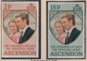ASCENSION, 177-178, MHN, 1973 Princess Anne's wedding issue