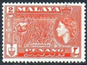 Penang 1957 2c Pineapples MH