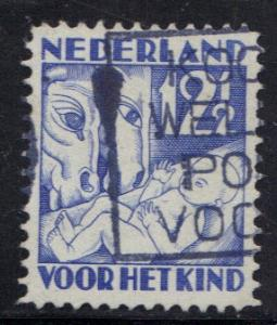 Netherlands   #B47  1930  used child welfare 12 1/2ct blue