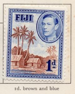 Fiji 1938-55 Early Issue Fine Mint Hinged 1d. 207568