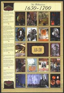 Grenada. 2000. ml 4126-42. Millennium, history, Rossica, Peter 1, horses. MNH.