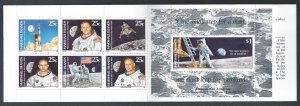 Marshall Islands #232-8 NH 1st Moon Landing 20th Anniv. - Complete Booklet of 7