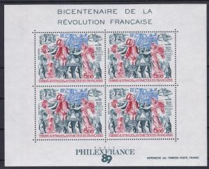 Fr. Southern Antarctic Terr # C107, French Revolution Bicentennial, NH, 1/2 Cat