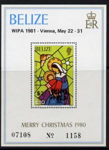 Belize 537 MNH Stained Glass, Christmas, WIPA o/p