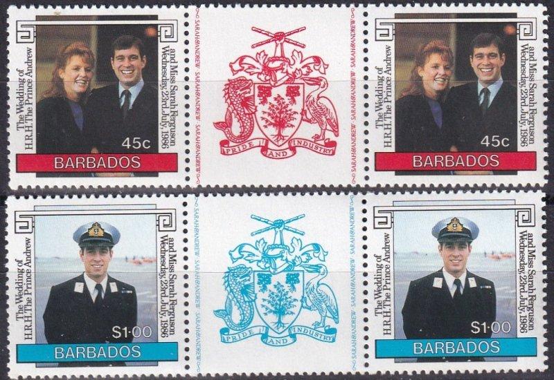 Barbados #687-8  MNH  CV $4.00  (Z1356)