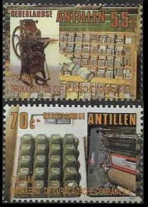 1987 Netherlands Antilles 625-626 Computerization