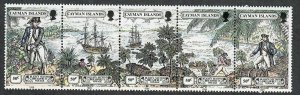 $Cayman Islands Sc#608a M/NH strip/5, Cv. $30