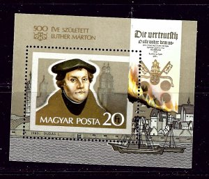 Hungary 2796 MNH 1983 Martin Luther S/S