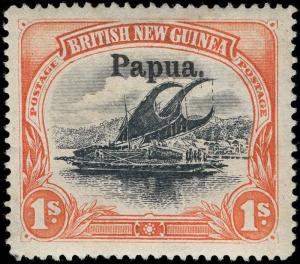 Papua New Guinea Scott 17 Variety Gibbons 27 Mint Stamp