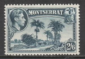 MONTSERRAT 1938 KGVI BOTANIC STATION 2/6 PERF 13