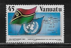 Vanuatu 405 1985 4th Admission to UN MNH