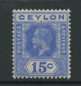 Ceylon -Scott 206 - KGV -Definitive- 1912- MVLH - Single 15c Stamp