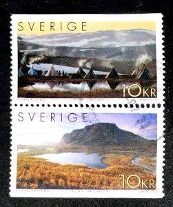 Sweden #2479 Used Se-tenant Pair FVF CV $6.50