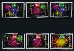 Netherlands Antilles 1128-33 MNH Christmas, Candles, Bells, Flower