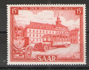 Germany - Saar 1954 Sc# 249 MNH F - Great example Stamp day 1954