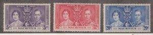 Mauritius Scott #208-209-210 Stamps - Mint NH Set