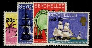 SEYCHELLES QEII SG253-256, complete set, NH MINT.