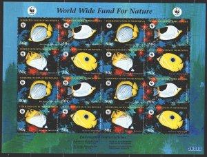 Micronesia. 1997. Small sheet 583-86. Pisces, WWF. MNH.