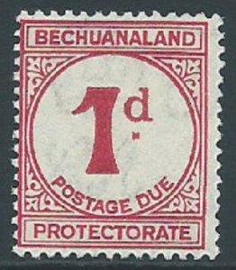 Bechuanaland Protectorate, Sc #J5, 1d MH