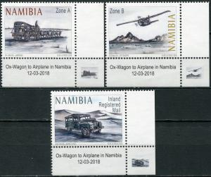 Namibia 2018. Means of transport. C4 (MNH OG) Set of 3 stamps