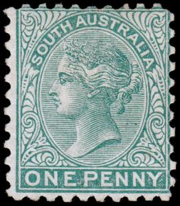 South Australia Scott 64 (1876) Mint LH F-VF, CV $40.00 M