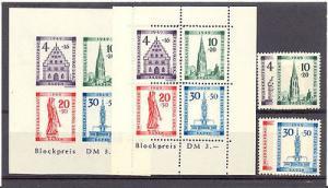 Germany #5NB5-8, 5NB8a Mint VF NH