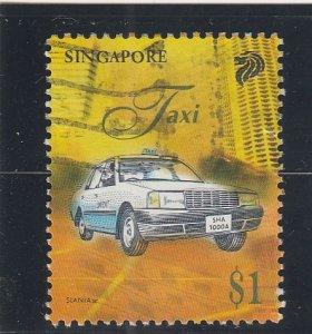 Singapore  Scott#  790  Used  (1997 Taxi)