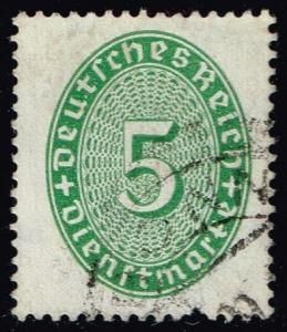 Germany #O65 Official - Numeral; Used (0.75)