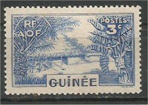 FRENCH GUINEA, 1938, MH 3c  Village Scott 129