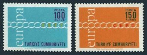 Turkey 1876-1877,MNH.Michel 2210-2211. EUROPE CEPT-1971.Fraternity,Cooperation.