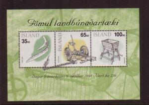 Iceland Sc 866 1998 Agricultural Tools  stamp sheet mint NH