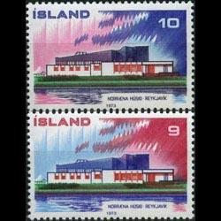 ICELAND 1973 - Scott# 454-5 Nordic Coop. Set of 2 NH