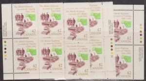 Canada USC #1413 Mint MS Imprint Blocks - 1992 Alaska Highway From Canada Route.