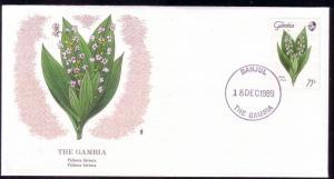 Gambia FDC SC# 879 Palisota Hirsuta Flower L164