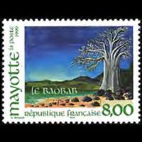 MAYOTTE 1999 - Scott# 127 Baobab Tree Set of 1 NH