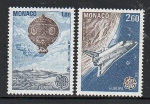 Monaco Sc 1368-69 1983  Europa stamp set mint  NH