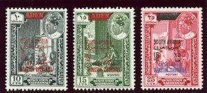 Aden - South Arabian Federation 1965 set complete superb MNH. SG 65-67.