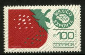 MEXICO Exporta 1134 $100P Strawberries Fluor Paper 8 MINT, NH. VF.
