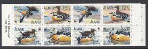 Aland 185e Birds Booklet MNH VF