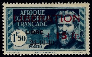 French Equatorial Sc B13 Mint OG VF sm hr SCV$30...Colonies are in demand!