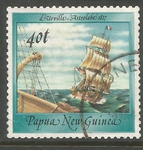 PAPUA  NEW GUINEA  671  USED, L'ASTROLABE