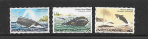 WHALES - NORFOLK ISLAND #290-92 MNH