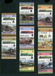 St Lucia #617-24 MNH