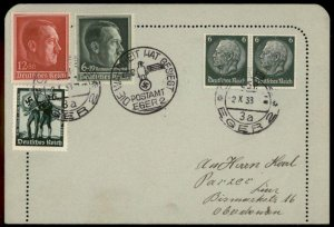 3rd Reich Germany Eger Sudetenland 1938 Annexation Provisional Cover G70382