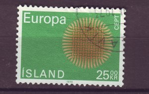 J25450 JLstamps 1970 iceland hv of set used #421 europa