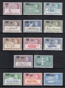 British Antarctic Territory Scott #25-38 MH