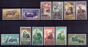 SPAIN Bullfighters 1960 MNH,MH,Og Scott #909-920 Not A Complete Set F-VF