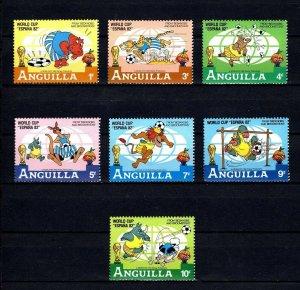 ANGUILLA - 1982 - DISNEY - WORLD CUP SOCCER - ESPANA - BEDKNOBS - MINT MNH SET!