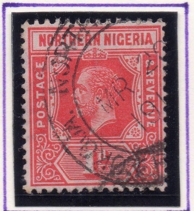 Northern Nigeria 1912 Early Issue Fine Used 1d. 055595